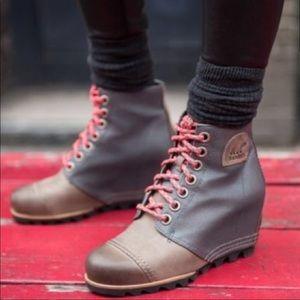 Sorel 1964 Premium Wedge Boots Leather